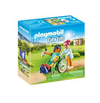 Playmobil 70193 Paziente con Sedia a Rotelle (Playmobil City Life) su ARSLUDICA.com