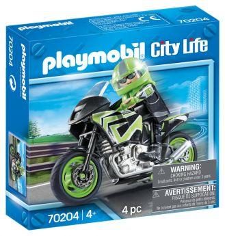 Playmobil 70204 Motociclista (Playmobil City Life) su ARSLUDICA.com