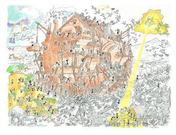 Arca di Noè (Puzzle 1080 Pezzi Le Formiche di Fabio Vettori)