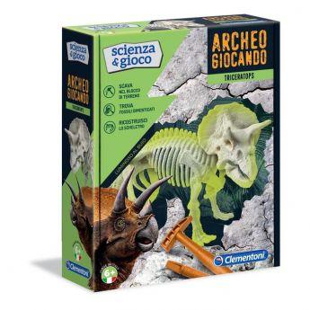 Archeogiocando Triceratopo Scienza e Gioco Clementoni