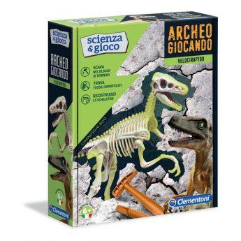 Archeogiocando Velociraptor Scienza e Gioco Clementoni