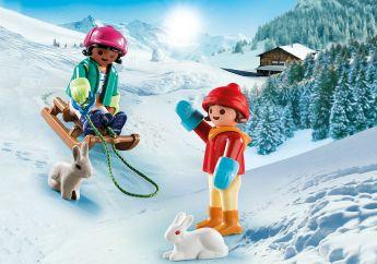 Bambini con Slittino Playmobil Special Plus 70250 su ARSLUDICA.com