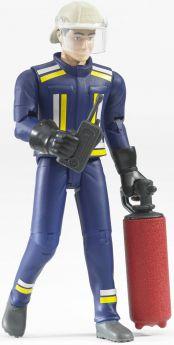 Pompiere con elmetto guanti e accessori (Gioco Bruder) (Toy)