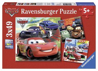 Cars 2 (Puzzle 3x49 pezzi Ravensburger)