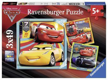Cars 3 (Puzzle 3x49 pezzi Ravensburger)