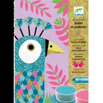 Sabbia e Glitter Dazzling Birds DJECO su ARSLUDICA.com