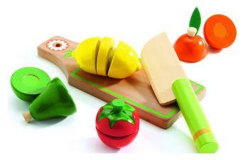 Frutta e Verdura in Legno da Tagliare Djeco su ARSLUDICA.com