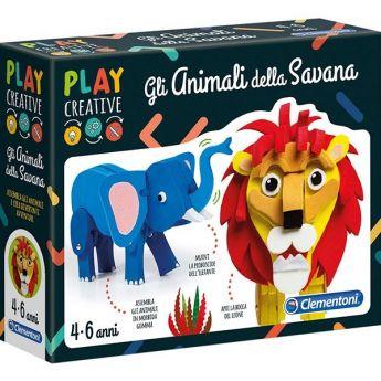 Play Creative -  Gli Animali della Savana (Gioco Clementoni)