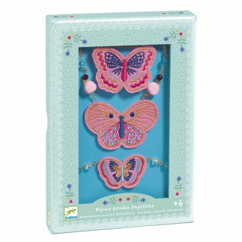 Hairbrushes Embroidered Jewels Butterflies (Gioielli Djeco)