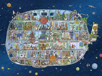 Puzzle 1500 Pezzi Heye Spaceship Adolfsson | Puzzle Composizione