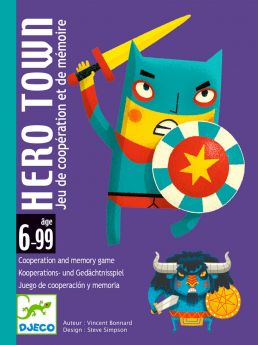 Hero Town Gioco di Carte Djeco su ARSLUDICA.com