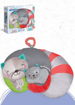 Kitty Cat Tummy Pillow (Prima Infanzia Baby Clementoni) su ARSLUDICA.com