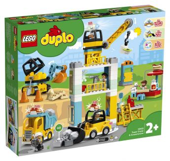 LEGO 10933 Cantiere edile con gru a torre LEGO Duplo su ARSLUDICA.com