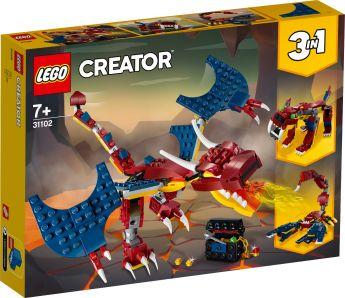 LEGO 31102 Drago del Fuoco LEGO Creator su ARSLUDICA.com
