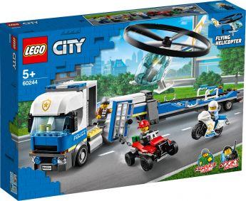 LEGO 60244 Trasportatore di Elicotteri della Polizia LEGO City su ARSLUDICA.com