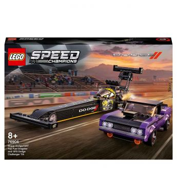 LEGO 76904 Mopar Dodge Challeger 1970 Full Dragster | LEGO Speed Champion