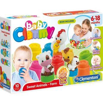 Clemmy Mamma e Cuccioli della Fattoria (Gioco Baby Clementoni)