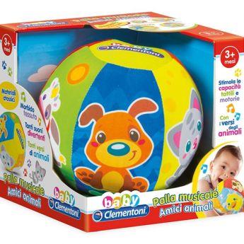 Palla Musicale Amici Animali (Infanzia Baby Clementoni)