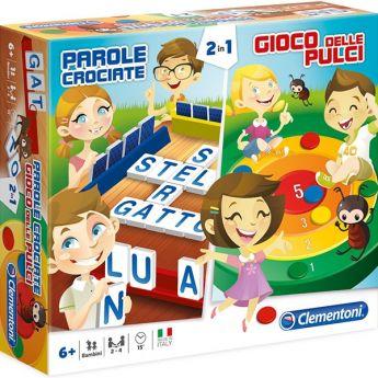 2in1 Parole Crociate e Gioco delle Pulci Gioco da Tavolo Clementoni su ARSLUDICA.com