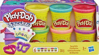 Play-Doh 6 Vasetti Brillanti su ARSLUDICA.com