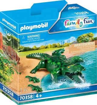 Playmobil 70358 Coccodrillo con Cucciolo (Playmobil Zoo)