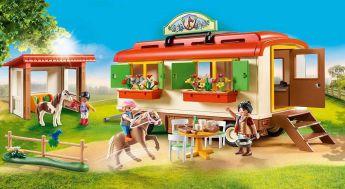 Gioco Ranch dei Pony con Roulotte 70510 | Playmobil Cavalli - Set