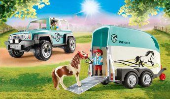 Gioco Fuoristrada con Rimorchio 70511 | Playmobil Cavalli - Set