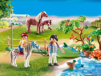 Gioco Passeggiata con i Pony | Playmobil Cavalli - Set