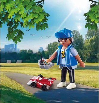 Gioco Ragazzo con Auto Radiocomandata | Playmobil Figures