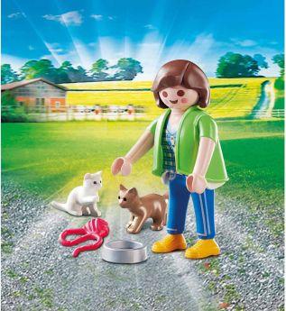 Gioco Ragazza con Gattini | Playmobil Figures