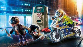 Gioco Poliziotto in Moto e Ladro  | Playmobil Polizia