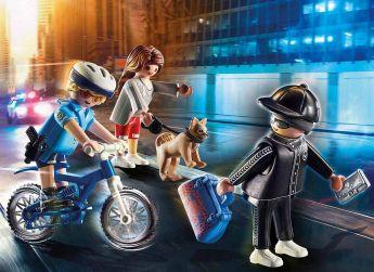 Gioco Poliziotto in Bici e Borseggiatore   Playmobil Polizia