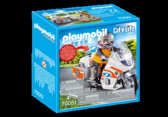 Playmobil 70051 Moto Pronto Intervento (Playmobil City Life)