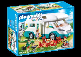 Playmobil 70088 Camper con Famiglia in Vacanza (Playmobil Family Fun)