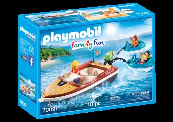 Playmobil 70091 Motoscafo con Gommoni (Playmobil Family Fun)