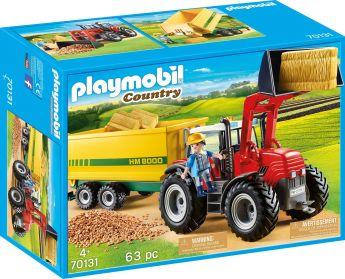 Playmobil 70131 Trattore con Rimorchio per Mangime (Playmobil Spirit)
