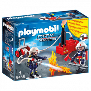 Playmobil 9468 Squadra Dei Vigili Del Fuoco Con Pompa D'acqua  (Playmobil City Action)
