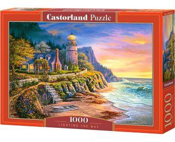 Puzzle 1000 pezzi Castorland Il Faro Illumina la Via | Puzzle Paesaggi Mare
