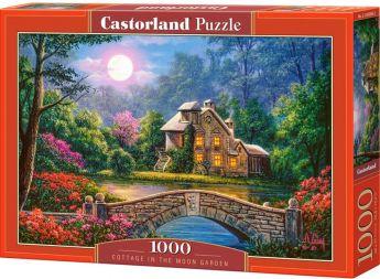 Puzzle 1000 pezzi Castorland Cottage Illuminato dalla Luna | Puzzle Paesaggi