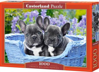 Puzzle 1000 pezzi Castorland Cuccioli di French Bulldog | Puzzle Animali