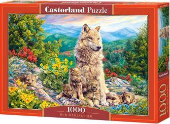 Puzzle 1000 pezzi Castorland Lupa con Cucciolotti | Puzzle Animali