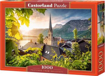 Puzzle 1000 pezzi Postcard from Hallstatt Castorland su arsludica.com