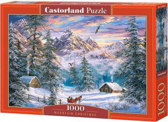 Puzzle 1000 pezzi Mountain Christmas Castorland su arsludica.com