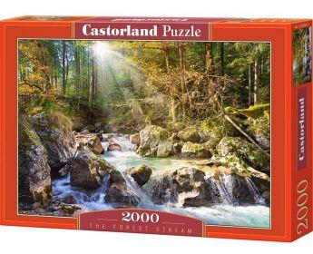 Puzzle 2000 pezzi Castorland Fiume della Foresta Assolata | Puzzle Paesaggio