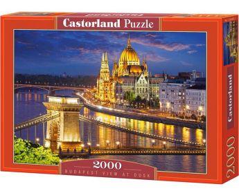 Puzzle 2000 pezzi Castorland Vista di Budapest al Tramonto | Puzzle Città
