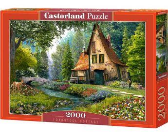 Puzzle 2000 pezzi Castorland Toadstool Cottage | Puzzle Paesaggi