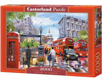 Puzzle 2000 pezzi Castorland Primavera a Londra   Puzzle Città