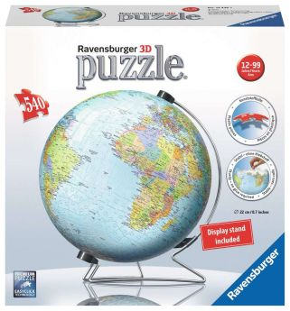 Puzzle 3D Mappamondo Gioco (Ravensburger 3D Puzzle)