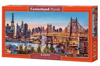 Puzzle 4000 pezzi Castorland Buona Sera New York | Puzzle Città