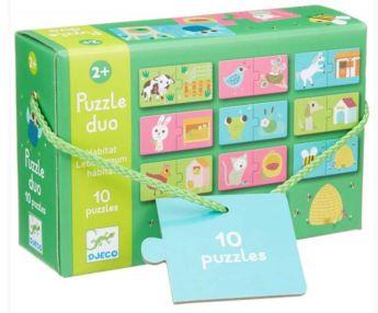 PUZZLE DUO HABITAT | Puzzle Djeco